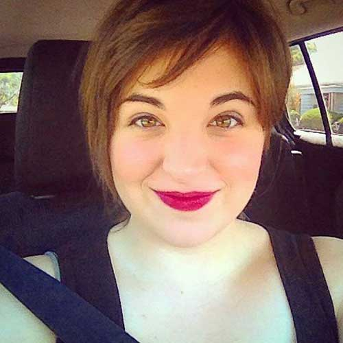 Adorable-Layered-Long-Pixie Pretty Short Haircuts for Chubby Round Face