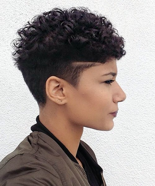 African-American-Curly-Top-–-Pixie-Cut-with-soft-Curls Trendy African American Pixie Haircuts for Short Hair – Straight, Curls