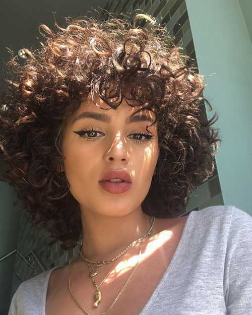 Afro-Short-Hair Cute Short Curly Hairstyles for Sweet View