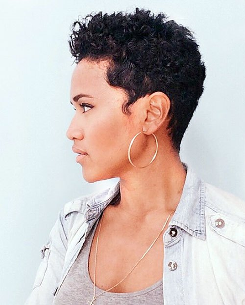 All-Over-Curls-–-Trendy-Short-Curly-Pixie-Cut-for-African-American-Women Trendy African American Pixie Haircuts for Short Hair – Straight, Curls