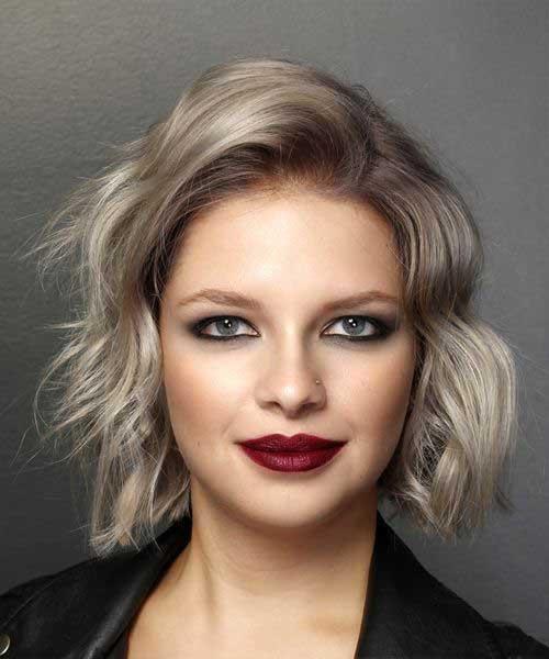 Ash-Blonde-Wavy-Bob Chic Ideas About Short Ash Blonde Hairstyles