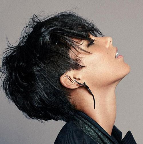 Black-Pixie-Hair Best Sassy Pixie Cuts 2019