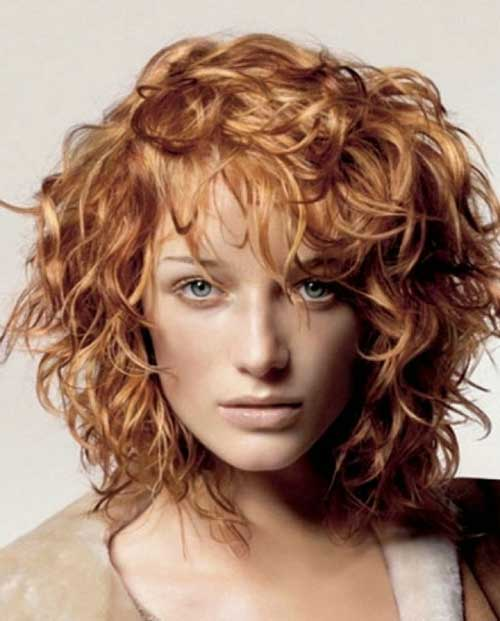Bob-Hair-for-Frizzy-Curly-Copper-Color Short Haircuts For Curly Frizzy Hair