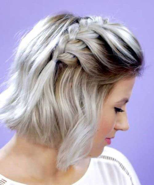 Braided-Bob Easy Hairstyles for Short Wavy Hair with Best Ways