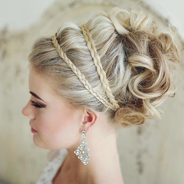 Braided-wedding-updo Romantic Wedding Hairstyles for 2019