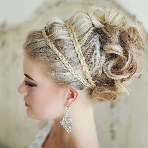 Braided-wedding-updo Romantic Wedding Hairstyles for 2019
