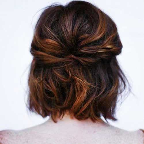 Bridesmaid-Hairstyle-for-Short-Hair Easy Hairstyles for Short Wavy Hair with Best Ways
