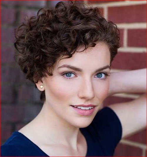 Brown-Short-Hair Very Short Curly Hairstyles for Smart Ladies