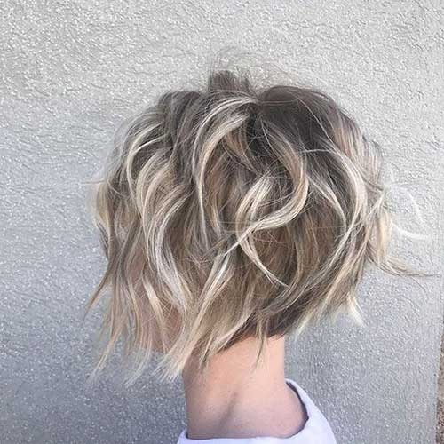 Choppy-A-Line-Bob Short Wavy Hairstyles for Women with Style