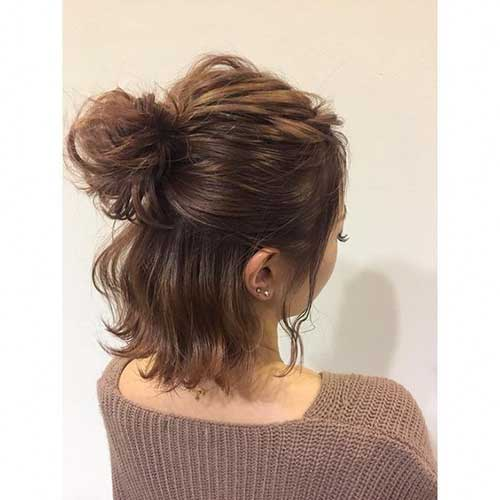 Cute-Easy-Bun Cute Easy Hairstyle Ideas for Short Hair