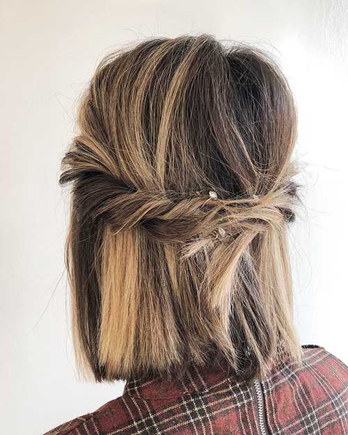 Cute-Easy-Hairstyle Cute Easy Hairstyle Ideas for Short Hair