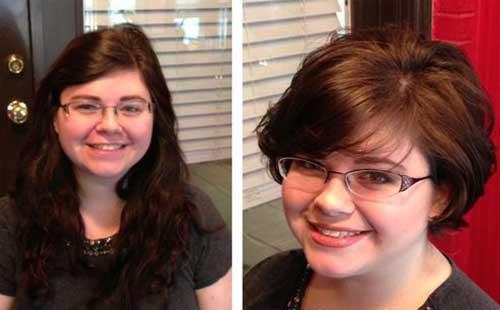 Cute-Short-Haircut-for-Girls Pretty Short Haircuts for Chubby Round Face