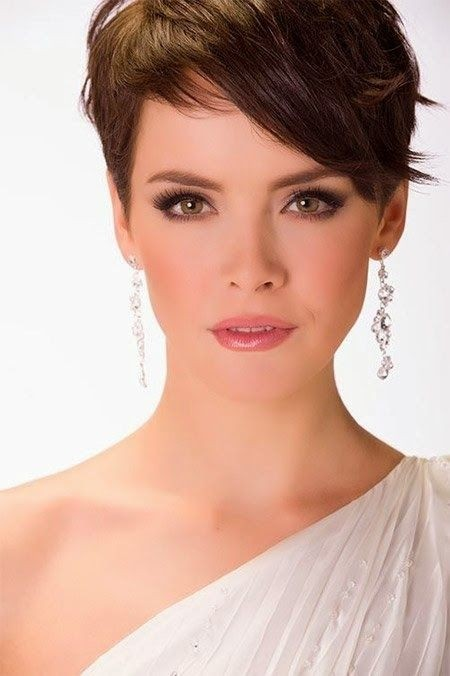 Cute-Short-Hairstyle-for-Brown-Hair Beautiful Hairstyles for Thin Hair 2019
