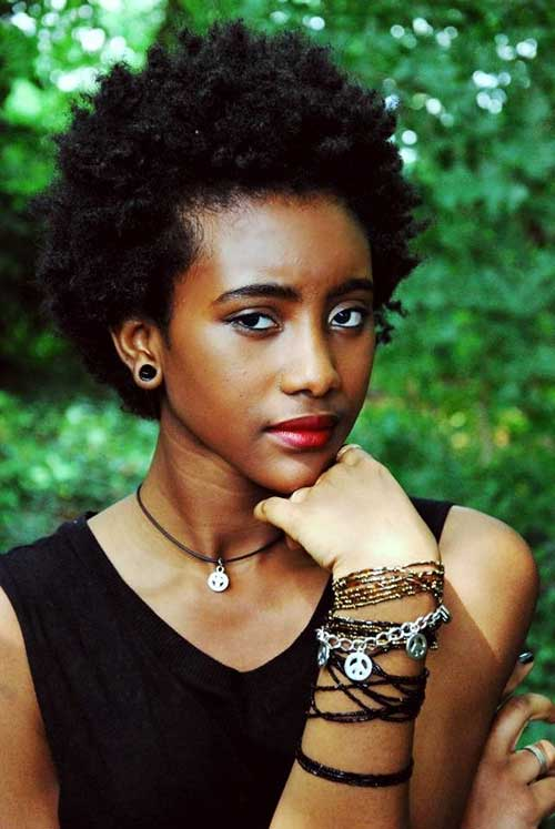 Cutest-Short-Natural-Afro-Look-Hair Cute Short Natural Hairstyles