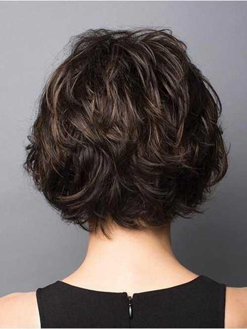 Dark-Hair Back View Of Short Layered Haircuts