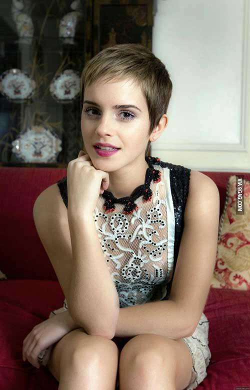 Emma-Watson's-Short-Pixie-Haircut Female Celebrity Short Haircuts 2015