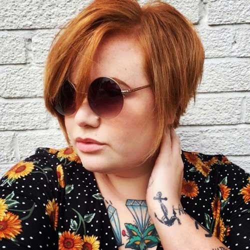 Fat-Girl-with-Short-Hair Pretty Short Haircuts for Chubby Round Face