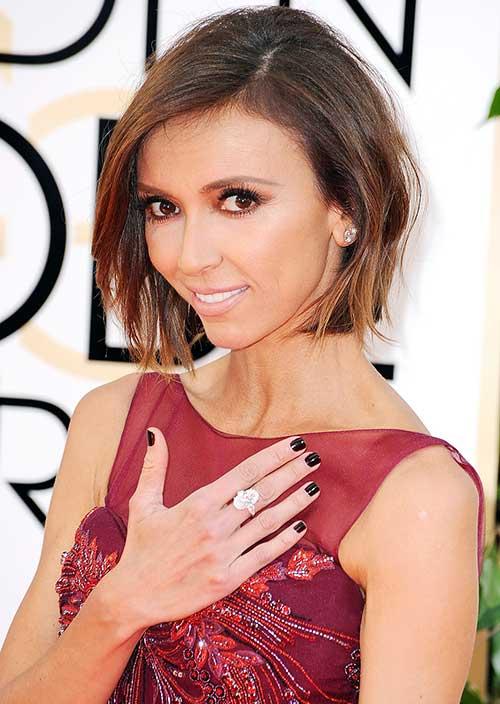 Giuliana-Rancic's-Short-Brown-Hair Female Celebrity Short Haircuts 2015
