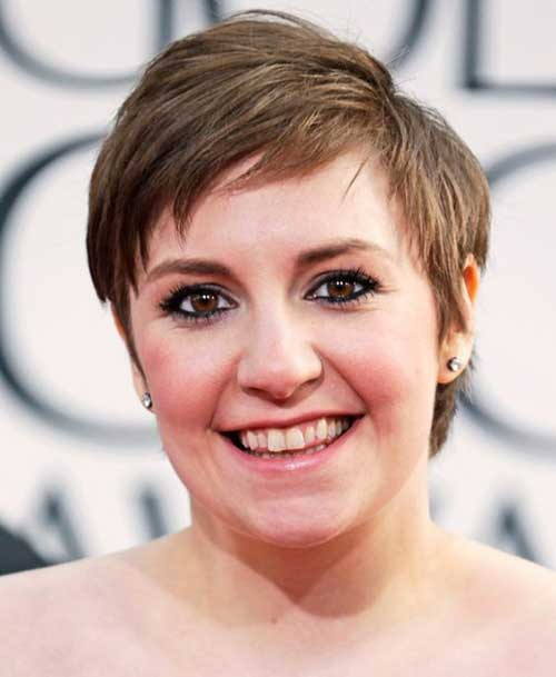 Hairstyle-for-Chubby-Face-Female Pretty Short Haircuts for Chubby Round Face