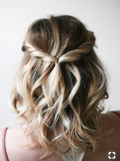 Hairstyle-for-Prom Easy Hairstyles for Short Wavy Hair with Best Ways