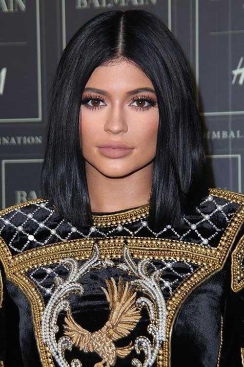 Kylie-Jenner-Short-Dark-Hair-Bob-Style-2015 New Hairstyles for Short Hair