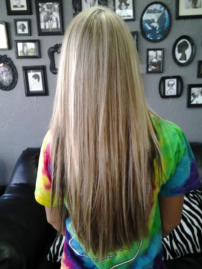 Long-Straight-Haircut-with-Highlights Great Layered Hairstyles for Straight Hair 2019