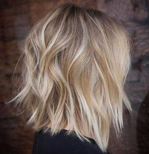 Medium-Length-Blonde-Hairstyle Short Wavy Hairstyles for Women with Style