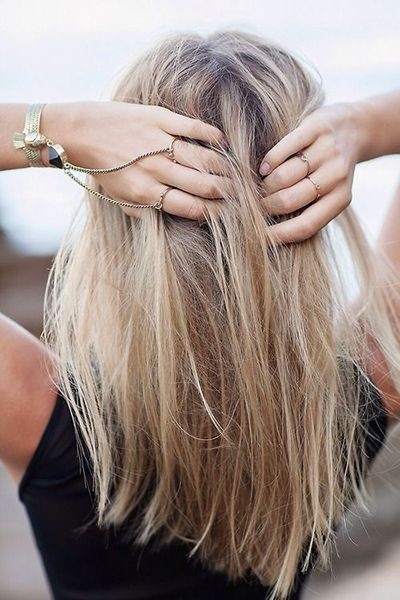 Messy-Medium-Straight-Hairstyle Daily Medium Hairstyles for Women 2019
