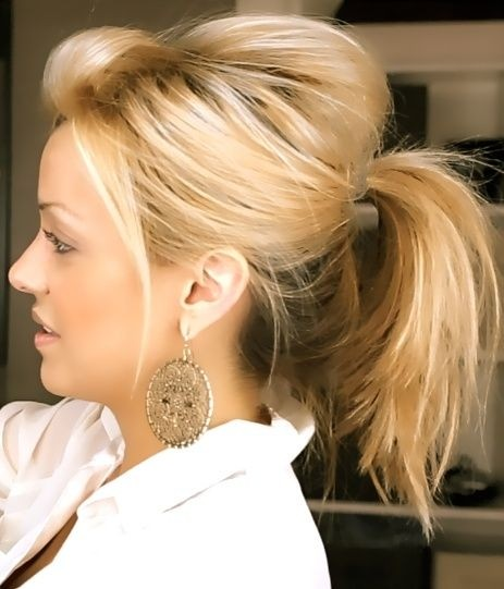 Messy-Ponytail-for-Medium-Hair Daily Medium Hairstyles for Women 2019