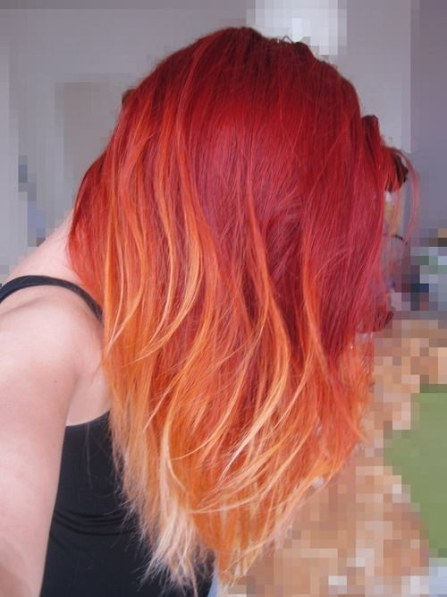 Mid-length-Hairstyle-for-Red-Ombre-Hair Daily Medium Hairstyles for Women 2019