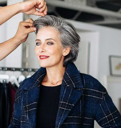 Modern-Natural-Grey-Short-Hair Very Short Haircuts for Older Women for New Look