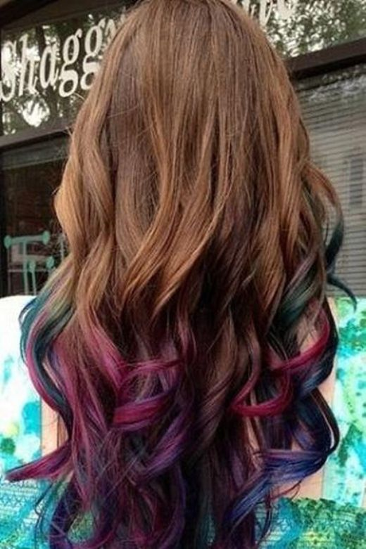 Rainbow-Ombre-Hair-Color-Idea Hottest Ombre Hair Color Ideas for 2019 – (Short, Medium, Long Hair)