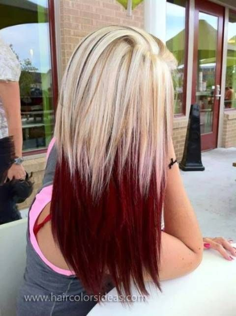 Red-Ombre-Hair-Color-Idea Hottest Ombre Hair Color Ideas for 2019 – (Short, Medium, Long Hair)