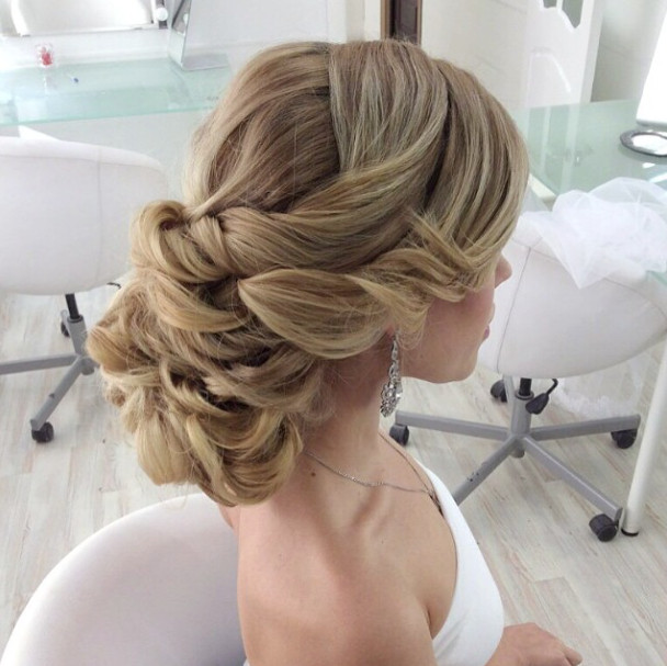 Romantic-wedding-updo-for-long-hair Romantic Wedding Hairstyles for 2019