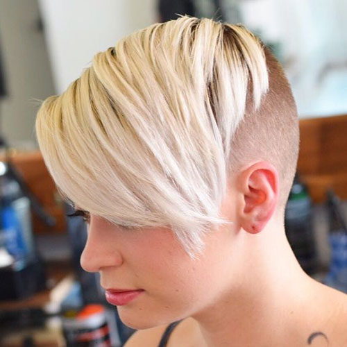 Shaved-Cut Best Pics of Short Straight Blonde Hair