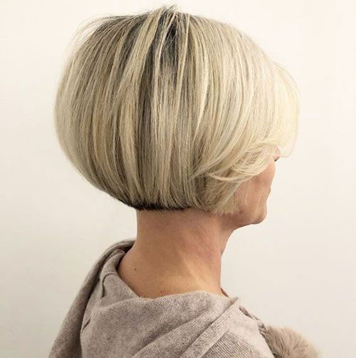 Short-Bob-Hair-Style-for-Women-Over-50 Bob Haircuts for Older Women Chic Look