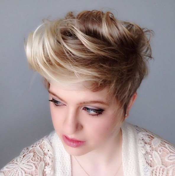 Short-Fauxhawk-Hairstyle Beautiful Short Hairstyles for Round Faces 2019