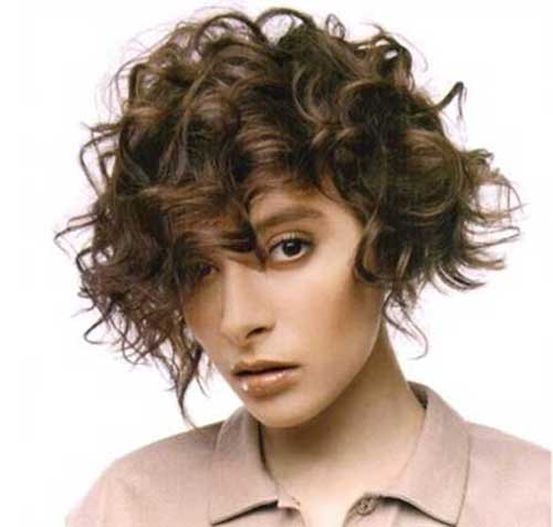 Short-Frizzy-Curly-Hair-Idea-for-Girls Short Haircuts For Curly Frizzy Hair