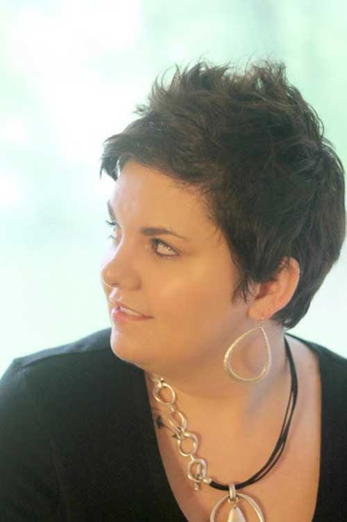 Short-Hair-Plus-Size-Women Pretty Short Haircuts for Chubby Round Face