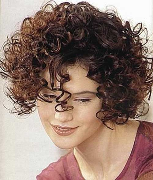 Short-Hairstyle-for-Thick-Curly-Frizzy-Dark-Brown-Hair Short Haircuts For Curly Frizzy Hair