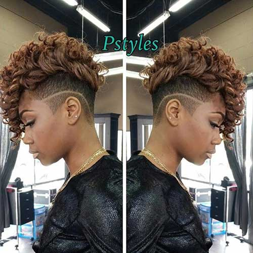 Short-Mohawk-Curly-Weave Best Short Curly Weave Hairstyles