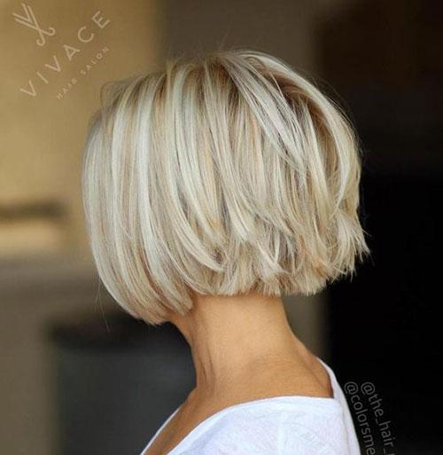 Short-Straight-Hair-Ice-Blonde-Highlights Best Pics of Short Straight Blonde Hair