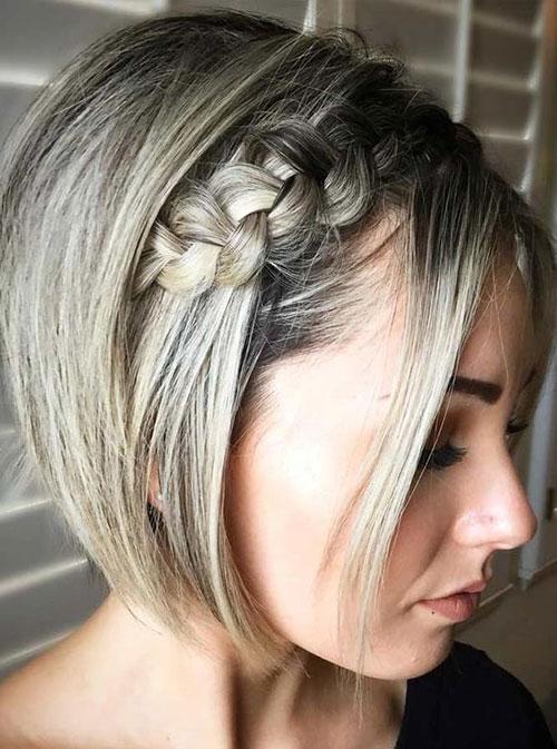 Side-Dutch-Braid-on-Short-Hair Ideas of Cute Easy Hairstyles for Short Hair