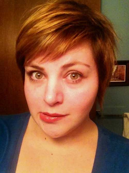 Side-Swept-Pixie Pretty Short Haircuts for Chubby Round Face