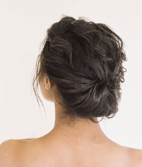 Simple-Updo Ideas of Cute Easy Hairstyles for Short Hair
