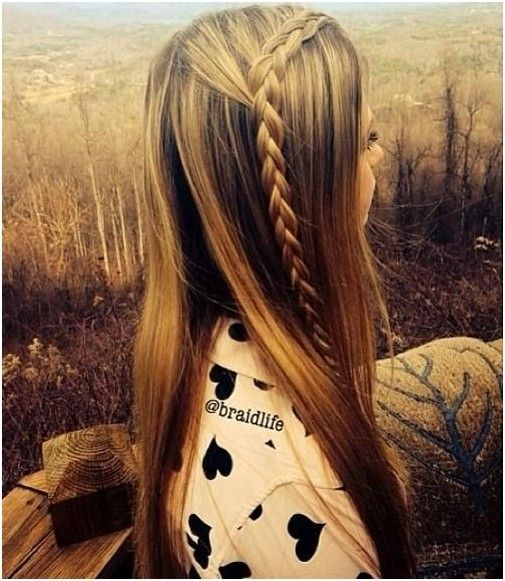 Sleek-Long-Straight-Hairstyle-With-Braid Alluring Straight Hairstyles for 2019 (Short, Medium & Long Hair)