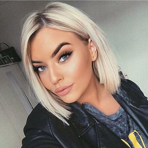 Straight-Lob Best Pics of Short Straight Blonde Hair