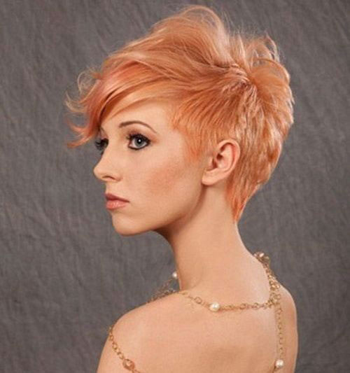 Strawberry-Blonde-Pixie Best Sassy Pixie Cuts 2019