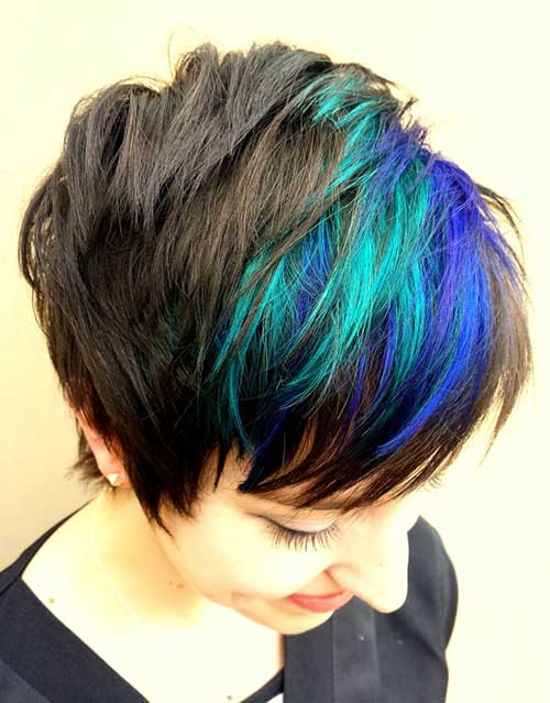Syndicate-Blue-Short-Hairstyle Short Hair with Color 2019