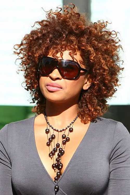 Tanika-Ray Best Short Curly Weave Hairstyles